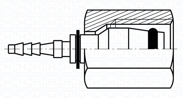 MICRO-HOSE SWIVEL FEMALE O'RING Ø6L M12X1.5 DN2