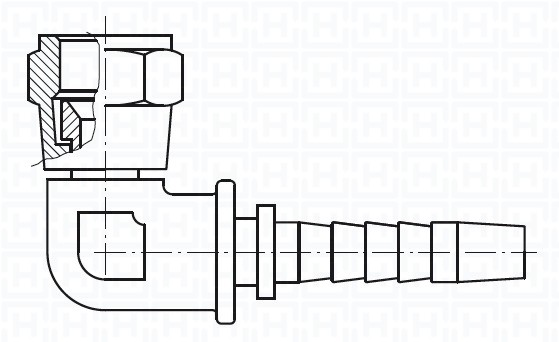 "S.S. 90º JIC COMPACT SWIVEL FEM 9/16"" 18H UNF DN3/8"""
