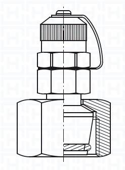 S.S. TLM CHECK COUPLING Ø6 L M12X1.5