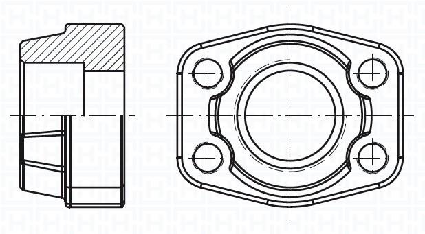 """SS. FEM.WELDING COUNTER-FLANGE METRIC T. 6000 PSI ØIN50.5 1""""1/2"""