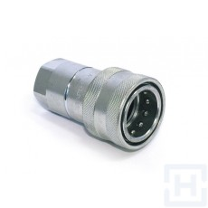 """ISO A QUICK RELEASE COUPLING FREE FLOW 1/4"""" BSP F"""