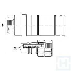 PUSH-PULL QUICK REL.COUPLING PRESSURE 3/4'' UNF M