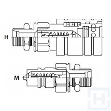 PUSH-PULL Q.REL.COUPLING AGR.AP BULKHEAD M18X1.5-12L M