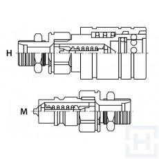 PUSH-PULL Q.REL.COUPLING AGR.AP BULKHEAD M22X1.5-15L M