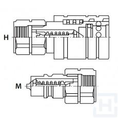 PUSH-PULL QUICK RELEASE COUPLING AGR.APP 1/2'' BSP F