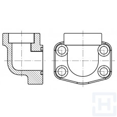 "90º FEM. WELDING FLANGE METRIC TUBE 3000 PSI ØIN20.3 1/2"""
