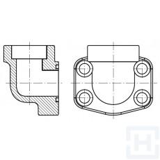 "90º FEM. WELDING FLANGE METRIC TUBE 3000 PSI ØIN25.3 3/4"""