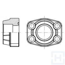 """FEM. WELDING FLANGE METRIC TUBE 3000 PSI ØIN50.5 1""""1/2"""