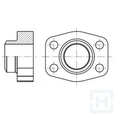 "MALE WELDING COUNTER-FLANGE METRIC TUBE 6000 PSI ØEXT38 1""1/2"