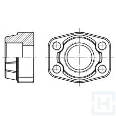 """FEM. WELDING COUNTER-FLANGE METRIC TUBE 6000 PSI ØIN50.5 1""""1/2"""
