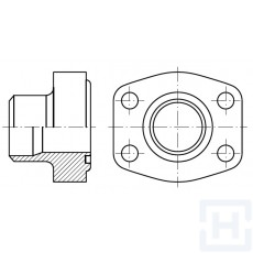 "MALE WELDING FLANGE L SERIE METRIC TUBE 3000 PSI ØEXT43 1""1/4"
