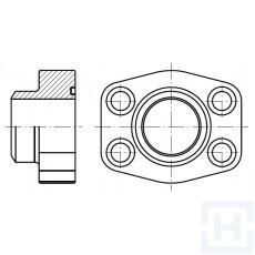 "MALE WELDING FLANGE METRIC TUBE 3000 PSI ØEXT77 4"""