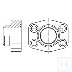 "MALE WELDING FLANGE METRIC TUBE 6000 PSI ØEXT38 1""1/2"