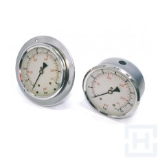 "PRESSURE GAUGE DN100 REAR CONN 1/2""BSP 0-2.5"