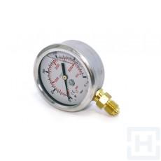 PRESSURE GAUGE DN63 VERTICAL 1/4'' BSP 0-600