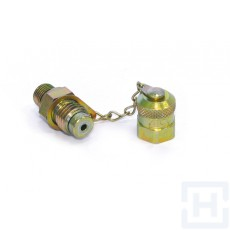 "CHECK COUPLING  MALE O'RING PLASTIC CAP 3/8"" BSP"