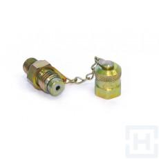 CHECK COUPLING MALE O'RING METALLIC CAP M12X1.5