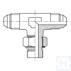 """TEE M JIC - ADJ. METRIC BANJO M - M JIC 7/8"""" JIC M22X1.5"""