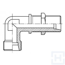 ELBOW BULKHEAD COUPLING ONLY BODY Ø16 Ø30 S M 24X1,5