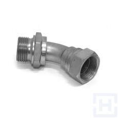 "S.S. 45º ELBOW MALE - SWIVEL FEM 60º M 1/4"" BSP F 1/4"" BSP"