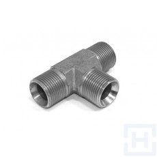 S.S. TEE MALE-MALE-MALE FORGE 3/8'' BSP 3/8'' BSP 3/8'' NPT