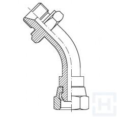 """S.S. 45º ELBOW SWIVEL FEM-SWIVEL FEM 60º 1/4"""" BSP 1/4"""" BSP"""