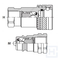 """QUICK COUPLINGS ISO A TRALE 1/2"""" BSP M S.S."""