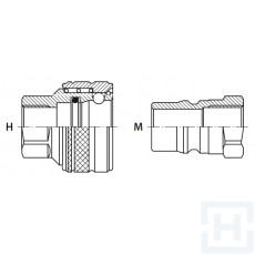 """QUICK COUPLINGS FREE FLOW TRALE 1/4"""" BSP F S.S."""