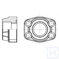 """S.S. FEM. WELDING FLANGE FOR METRIC TUBE 6000 PSI ØIN38.3 1""""1/4"""