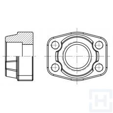 """SS. FEM.WELDING COUNTER-FLANGE METRIC T. 6000 PSI ØIN30.3 1"""""""