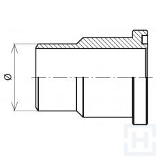 "SS. WELDING ADAPTOR METRIC TUBE +O'RING 3000 PSI ØIN16 1/2"""