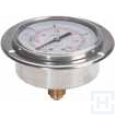 "S.S.PRESSURE GAUGE DN100 REAR CONNECTION 1/2"" BSP 0-100"