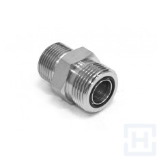 "S.S. ADAPTOR ORFS MALE - METRIC MALE ORFS 1""11/16-12H M42X2"