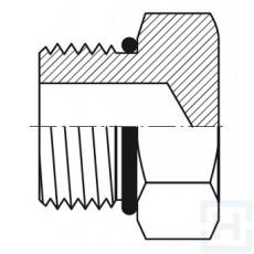 S.S.MALE HEXAGONAL O'RING BOSS PLUG Ø18-20 Ø3/4 1''1/16 - 12H UN