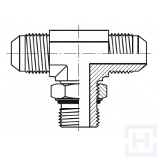 S.S. ADJ. TEE M O'RING BOSS-M JIC-M JIC Ø6 Ø1/4 7/16'' - 20H UNF